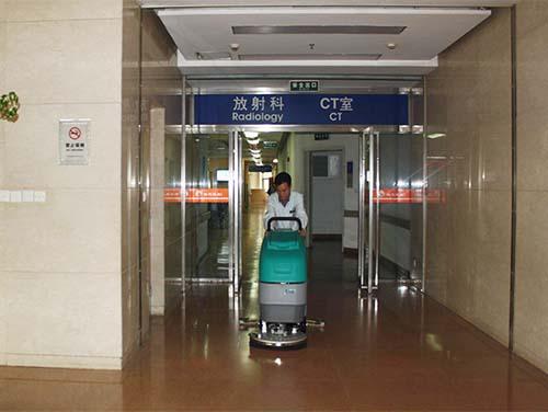 上海某医院采购我公司手推式洗地机SA1-B500