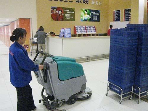 科力德洗地机进驻某大型连锁超市